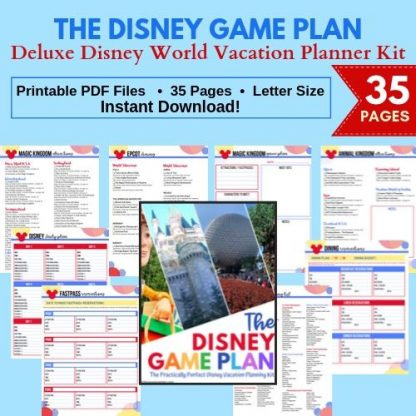 Disney Game Plan Vacation Planner